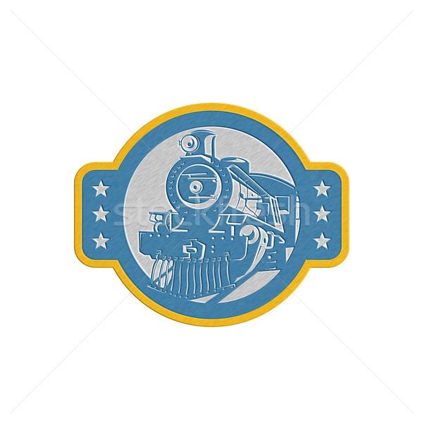 Metalen stoom trein locomotief retro Stockfoto © patrimonio