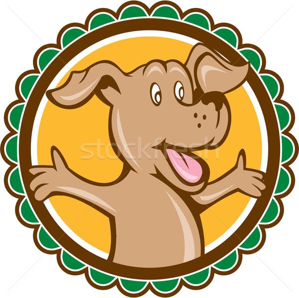 Dog Arms Out Rosette Cartoon Stock photo © patrimonio
