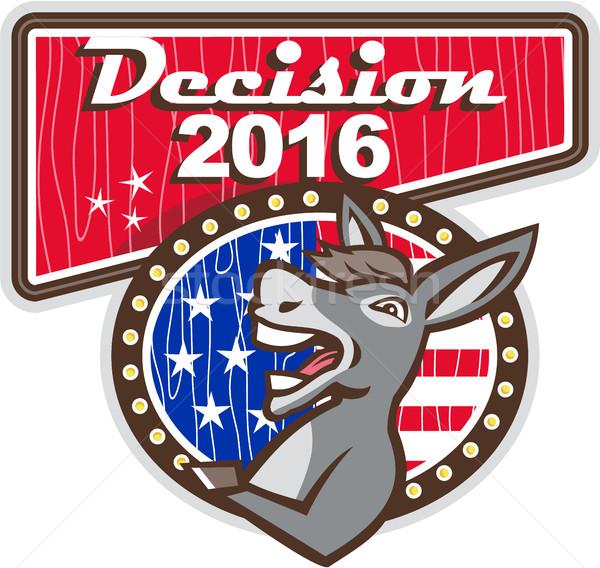 Decision 2016 Democrat Donkey Stock photo © patrimonio