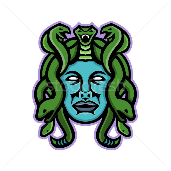 Medusa Greek God Mascot Stock photo © patrimonio