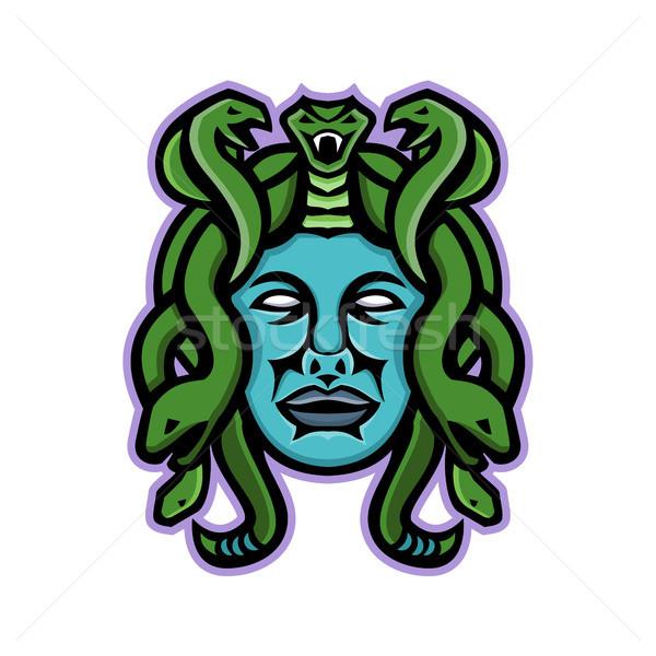 Grieks god mascotte icon illustratie hoofd Stockfoto © patrimonio