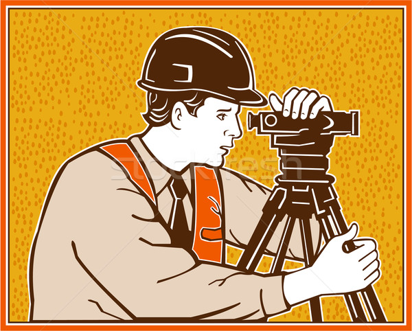 Surveyor Geodetic Civil Engineer Retro Stock photo © patrimonio