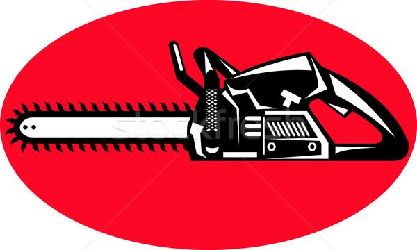 chainsaw sideview Stock photo © patrimonio