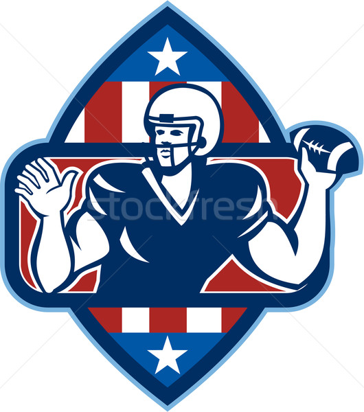 American Football Quarterback Throw Ball Stock photo © patrimonio
