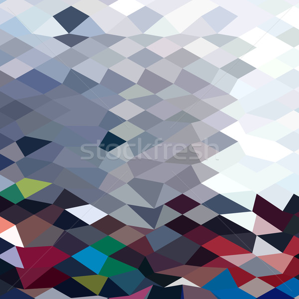 Tidal Wave Abstract Low Polygon Background Stock photo © patrimonio