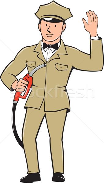 газ жокей изолированный Cartoon иллюстрация Сток-фото © patrimonio