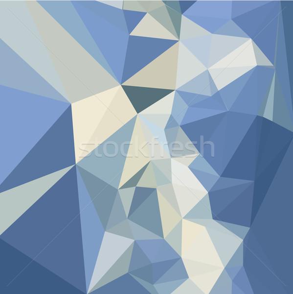 Bleu résumé faible polygone style illustration Photo stock © patrimonio
