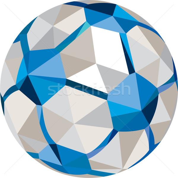 Futbol futbol top düşük çokgen stil Stok fotoğraf © patrimonio