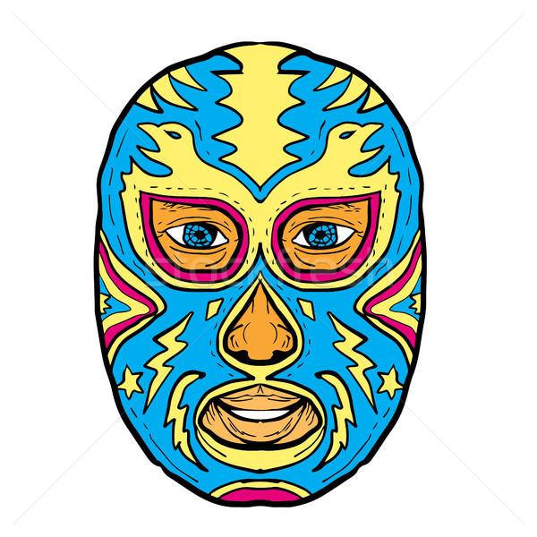 Maschera aquila disegno illustrazione star Foto d'archivio © patrimonio