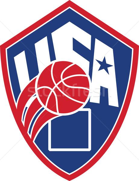 United States USA American Basketball Ball Shield Stock photo © patrimonio