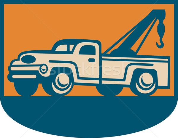 Vintage Tow Wrecker Pick-up Truck  Stock photo © patrimonio