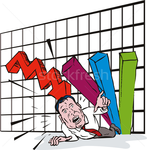 Graph Crashing Down Stock photo © patrimonio