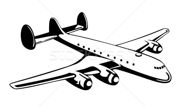 Pervane uçak Retro örnek uçuş uçan Stok fotoğraf © patrimonio