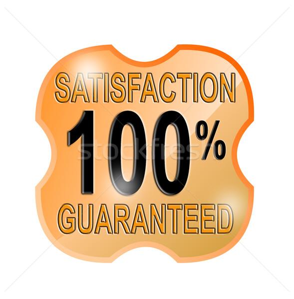 100 memnuniyet garantili kalkan örnek sözler Stok fotoğraf © patrimonio