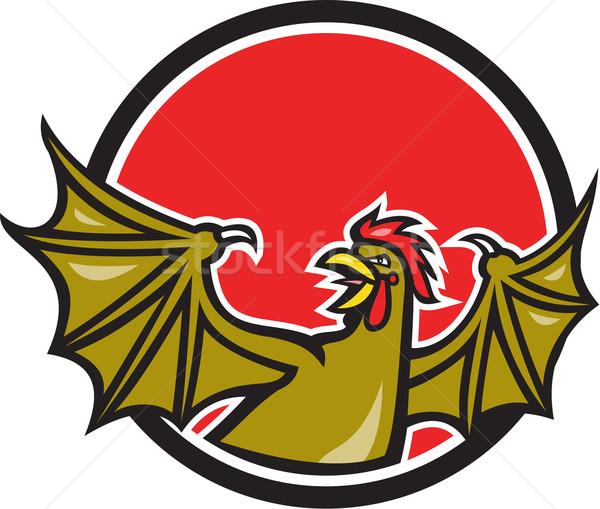 Basilisk Bat Wing Cartoon Stock photo © patrimonio