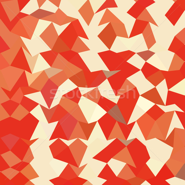 Coral Red Abstract Low Polygon Background Stock photo © patrimonio