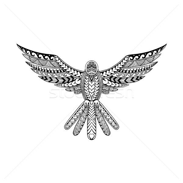 голубя племенных татуировка стиль иллюстрация Flying Сток-фото © patrimonio