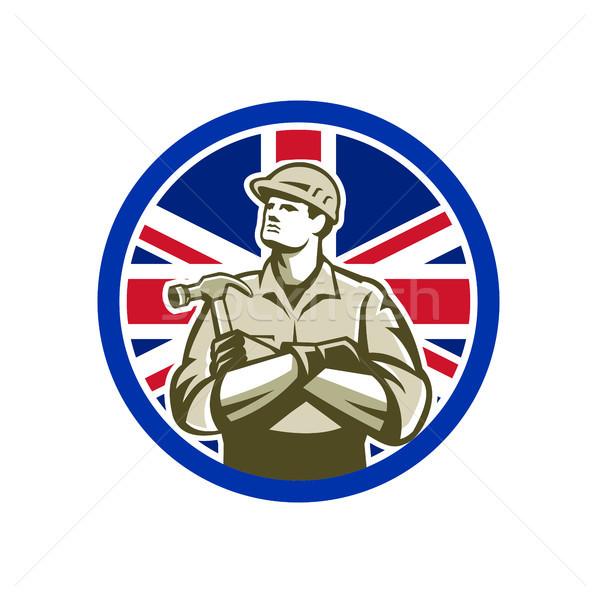 İngilizler oluşturucu İngiliz bayrağı bayrak ikon retro tarzı Stok fotoğraf © patrimonio