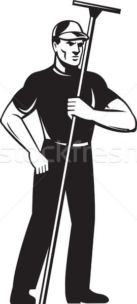 Pencere yıkayıcı temizleyici işçi ayakta örnek Stok fotoğraf © patrimonio