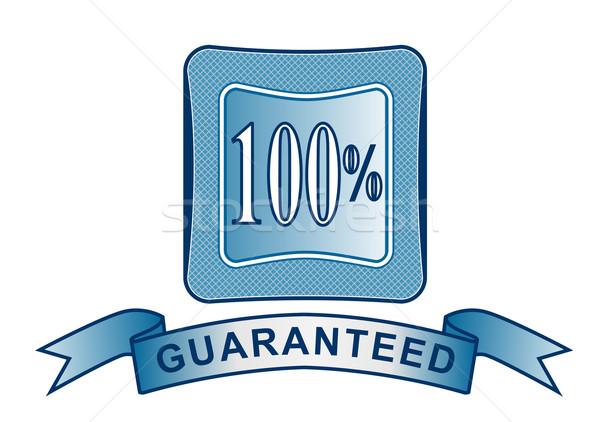 100 satisfacción escudo ilustración palabras Foto stock © patrimonio