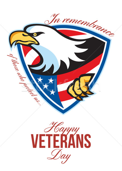 Happy Veterans Day American Eagle Greeting Card Stock photo © patrimonio