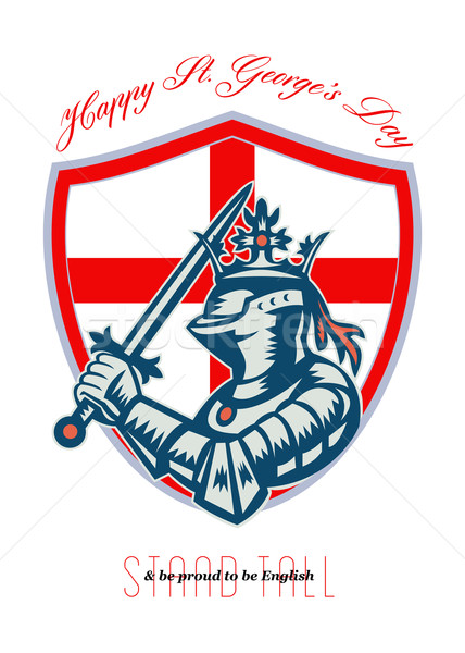 Proud to Be English Happy St George Day Shield Card Stock photo © patrimonio