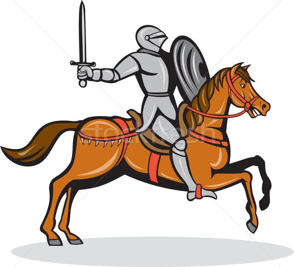 şövalye binicilik at karikatür örnek tok Stok fotoğraf © patrimonio