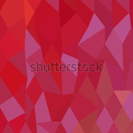Imperial Purple Cadmium Red Abstract Low Polygon Background Stock photo © patrimonio
