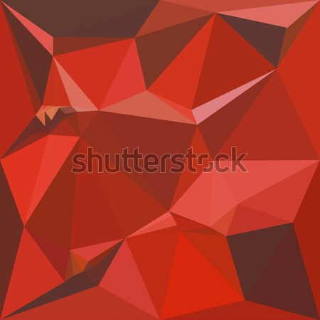 Antique Ruby Abstract Low Polygon Background Stock photo © patrimonio