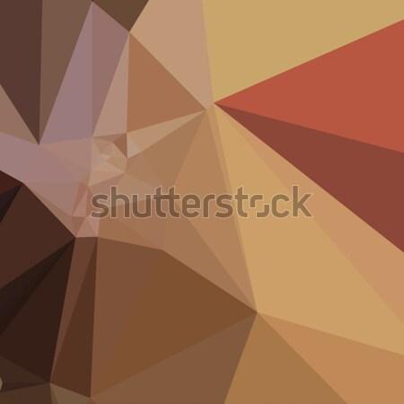 Antiguos latón marrón resumen bajo polígono Foto stock © patrimonio