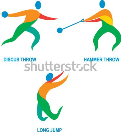 Shooting and Fencing Sport Icon Stock photo © patrimonio