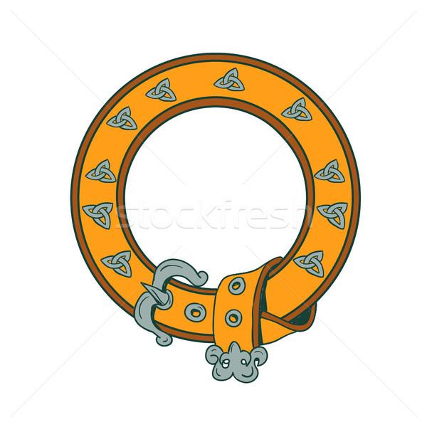 кельтской пояса рисунок иллюстрация круга рисованной Сток-фото © patrimonio