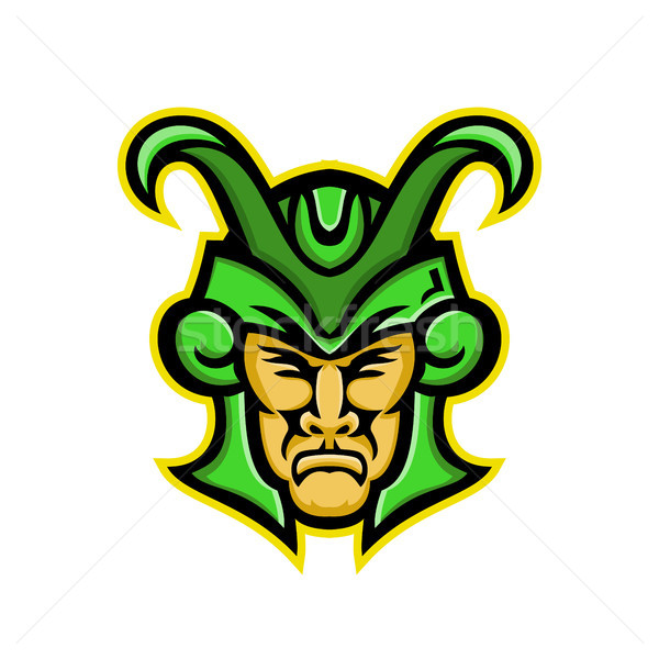 Loki Norse God Mascot Stock photo © patrimonio