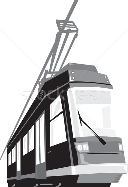 Modern Streetcar Tram Train Stock photo © patrimonio