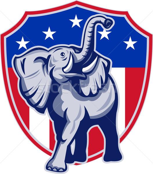 Republican elefant mascota SUA pavilion ilustrare Imagine de stoc © patrimonio