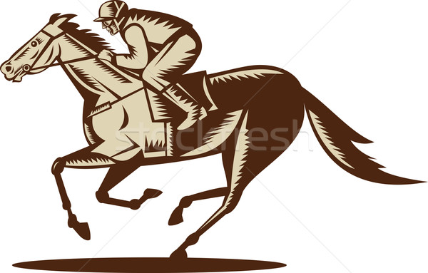 horse and jockey racing Stock photo © patrimonio