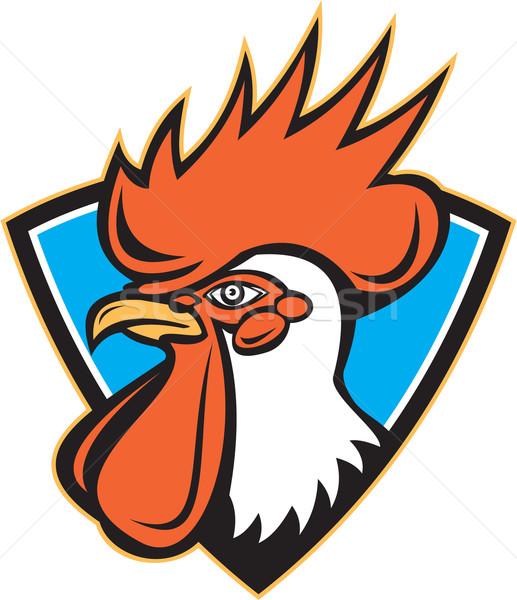 Rooster Cockerel Head Crest Stock photo © patrimonio