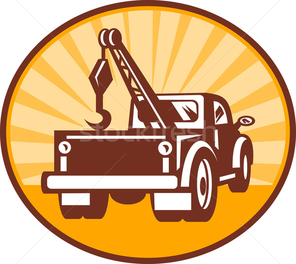 Rear view of a tow or wrecker truck Stock photo © patrimonio