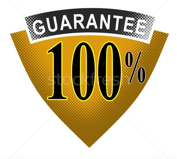 100 garantir escudo fita ilustração palavras Foto stock © patrimonio