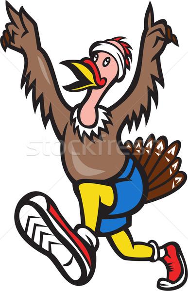Turkey Run Runner Cartoon Isolated Stock photo © patrimonio