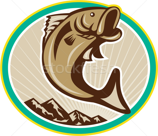 Largemouth Bass Jumping Circle Stock photo © patrimonio