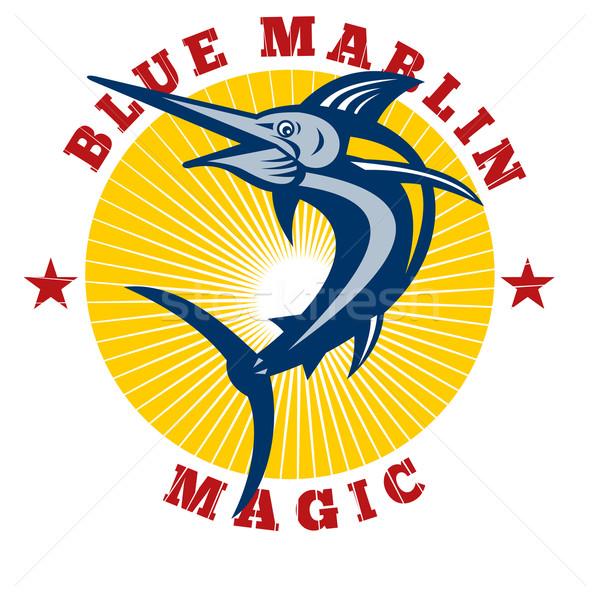 Azul magia ilustração saltando palavras Foto stock © patrimonio