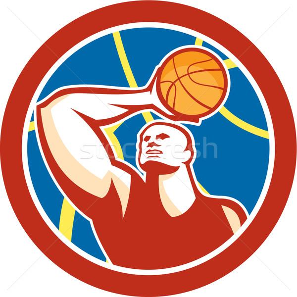 Disparo pelota círculo retro ilustración Foto stock © patrimonio