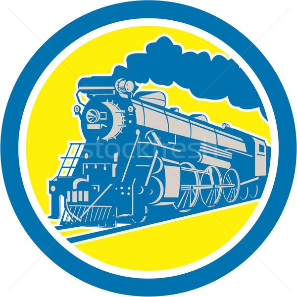пар поезд локомотив круга ретро иллюстрация Сток-фото © patrimonio