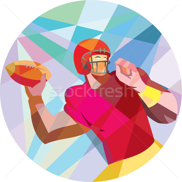 American Football Quarterback QB Low Polygon Stock photo © patrimonio