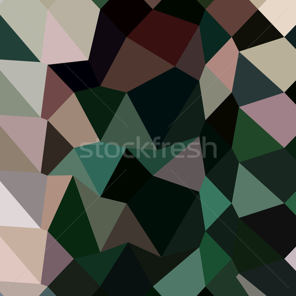 Escuro musgo verde abstrato baixo polígono Foto stock © patrimonio