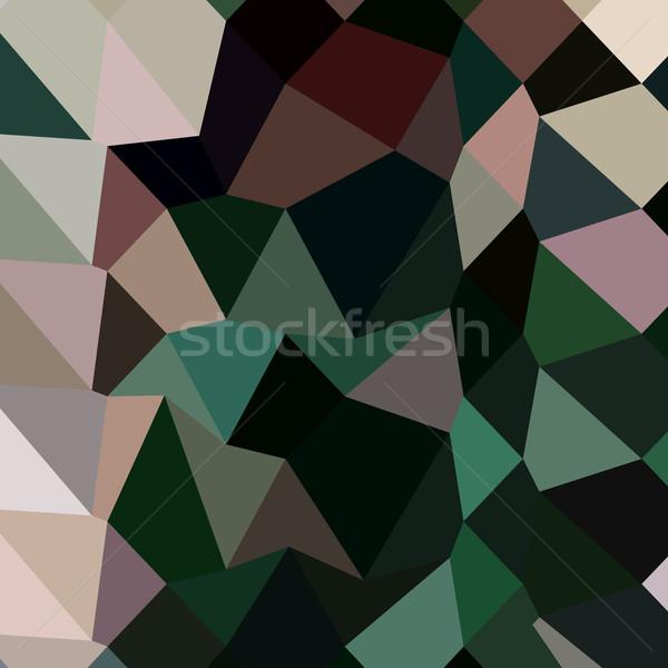 Dark Moss Green Abstract Low Polygon Background Stock photo © patrimonio