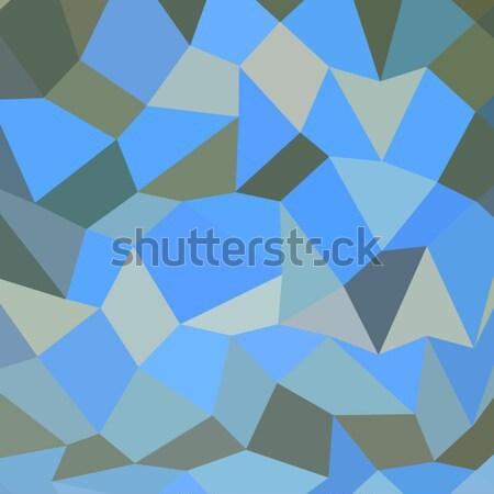 Bondi Blue Abstract Low Polygon Background Stock photo © patrimonio