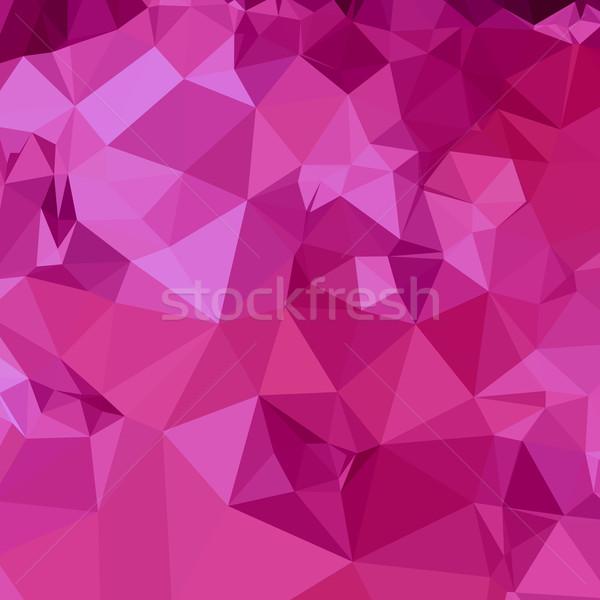 Profonde rose résumé faible polygone style Photo stock © patrimonio