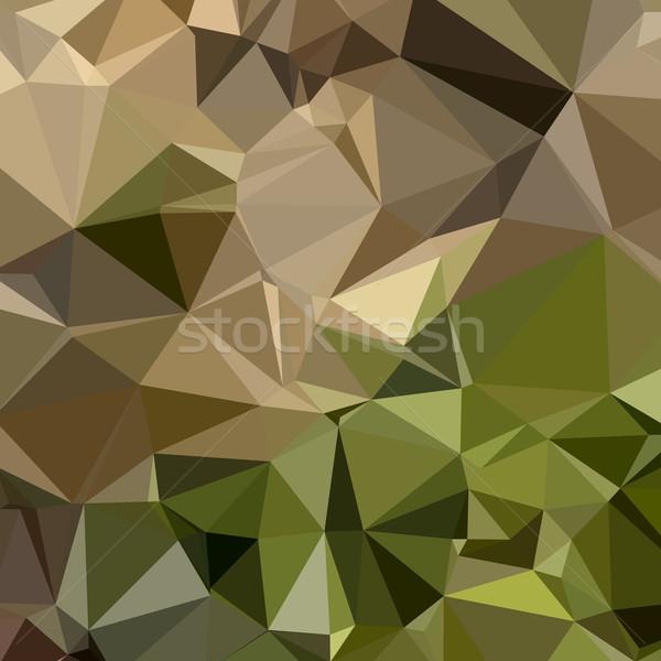 Bruin abstract laag veelhoek stijl illustratie Stockfoto © patrimonio